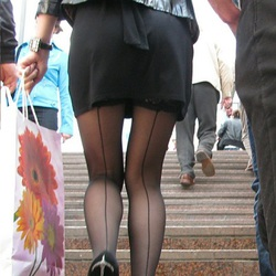 Candid upskirt Black Stockings - MOTHERLESS.COM